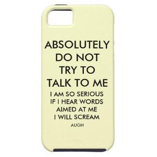 NO CONVERSATIONS iPhone SE/5/5s CASE