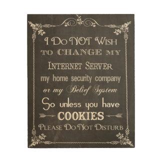 No Cookies, Don't Disturb Chalkboard Sign Art Wood Wall Art