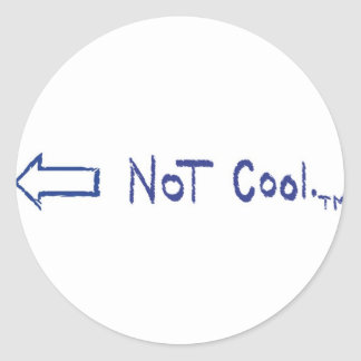 No cool.™ (flecha izquierda) etiquetas redondas