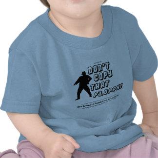No copie ese disco blando camisetas