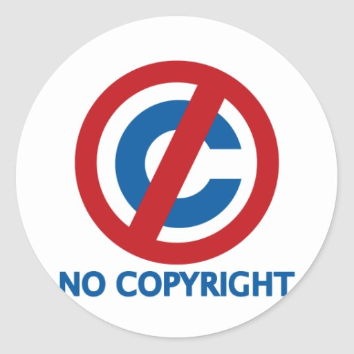 No Copyright Sticker