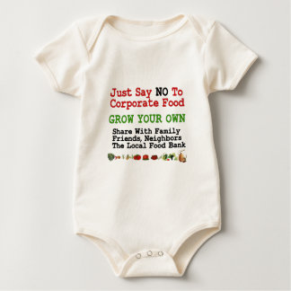 No Corporate Food Baby Bodysuit