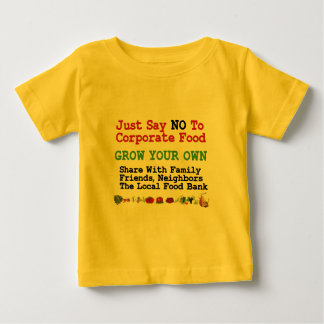 No Corporate Food Baby T-Shirt