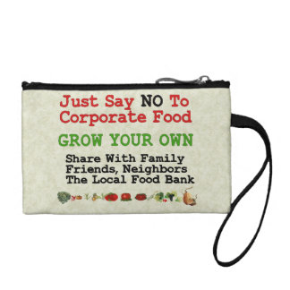No Corporate Food Coin Wallet