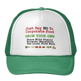 No Corporate Food Trucker Hat