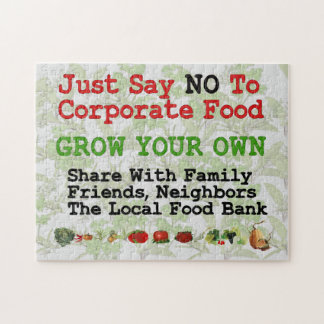 No Corporate Food Jigsaw Puzzle