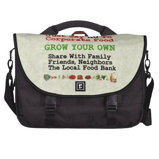 No Corporate Food Laptop Messenger Bag
