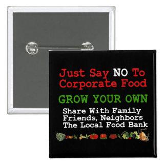 No Corporate Food Pins