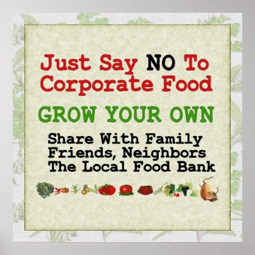 No Corporate Food Print