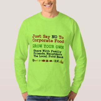 No Corporate Food T Shirt