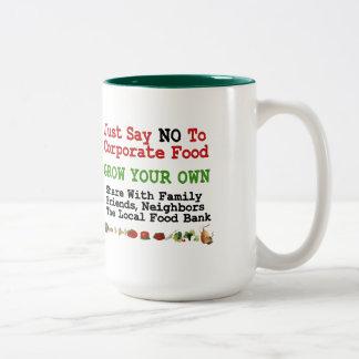 No Corporate Food Two-Tone Coffee Mug