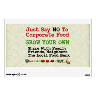 No Corporate Food Wall Decal