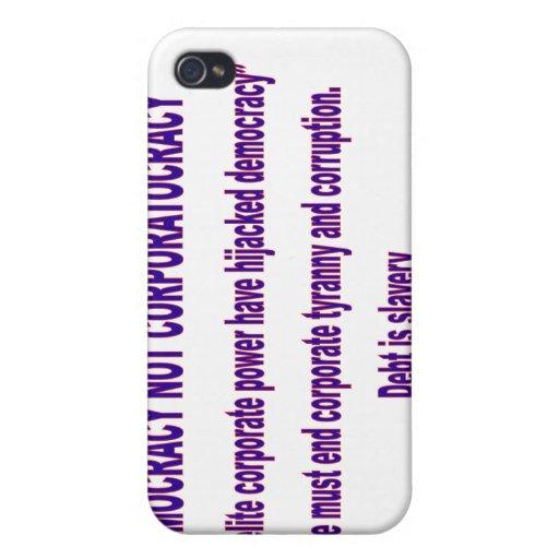 No Corportacracy iPhone 4 Coberturas