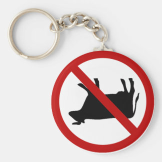 NO Cow Tipping! Basic Round Button Keychain