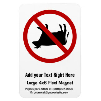 NO Cow Tipping! Rectangular Photo Magnet