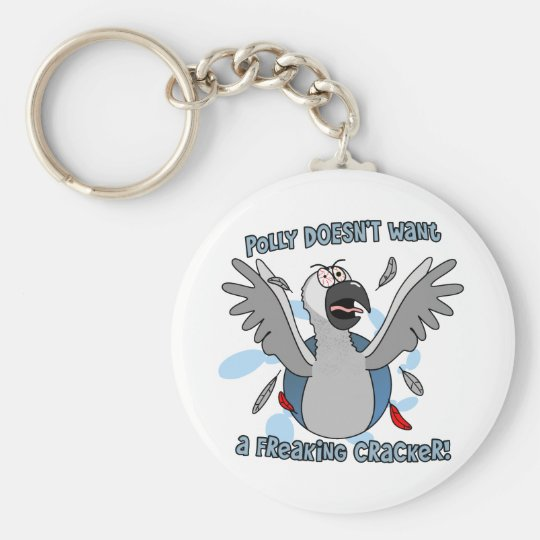 No Crackers African Grey Keychain