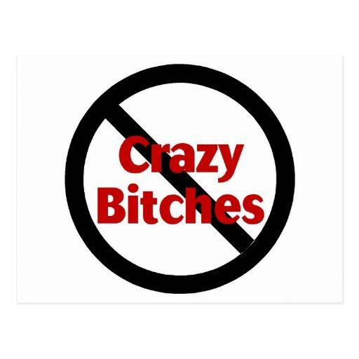 No Crazy Bitches Postcard