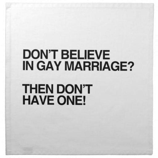 NO CREA EN EL MATRIMONIO HOMOSEXUAL - .PNG SERVILLETAS IMPRIMIDAS