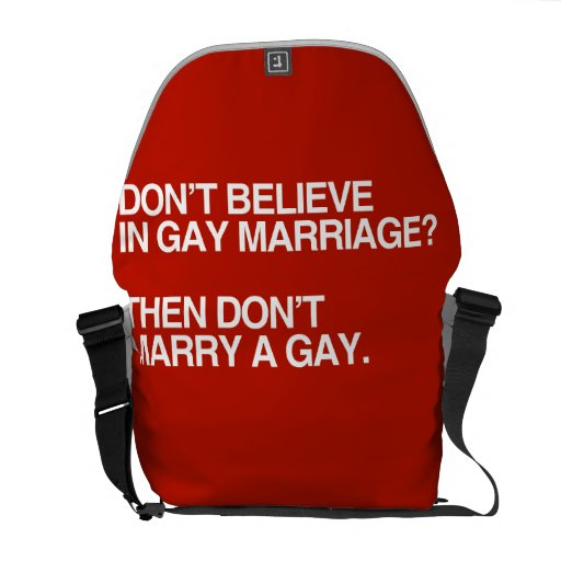 NO CREA EN MATRIMONIO HOMOSEXUAL NO CASAN - .PNG BOLSA MESSENGER