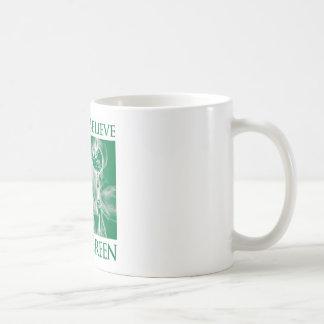 No creo verde del santo tazas de café