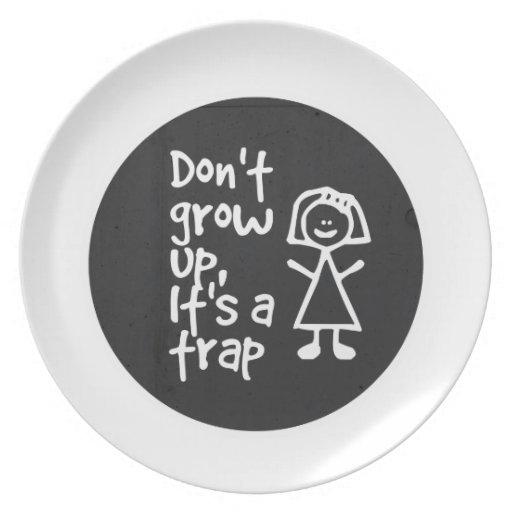 No crezca, él es una trampa platos de comidas