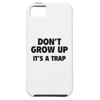 No crezca. Es una trampa iPhone 5 Carcasas