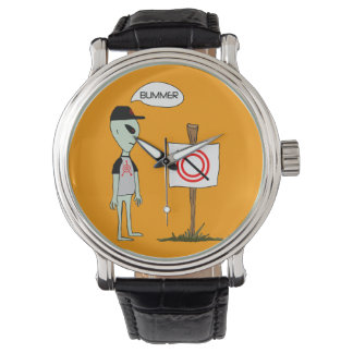 No Crop Circles Allowed Custom Watch
