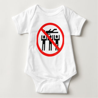NO CROWD SURFING - Customized Baby Bodysuit