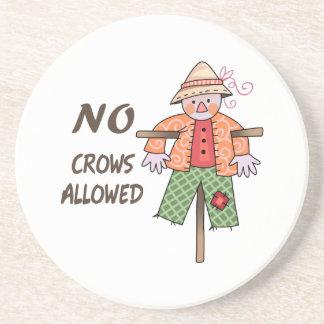 NO CROWS ALLOWED COASTER