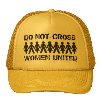 No cruce a las mujeres del ~ unidas gorro de camionero