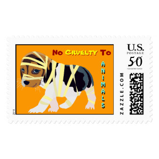 No Cruelty to Animals Stamp: Dog in Bandages Postage