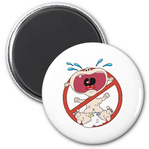 No Cry Babies 2 Inch Round Magnet