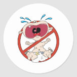 No Cry Babies Classic Round Sticker