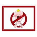 NO CRY BABIES POSTCARD