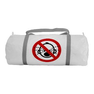 NO Cry Babies ⚠ Thai Airport Sign ⚠ Gym Bag