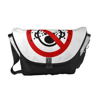 NO Cry Babies ⚠ Thai Airport Sign ⚠ Messenger Bag