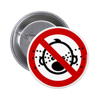 NO Cry Babies ⚠ Thai Airport Sign ⚠ Pinback Button