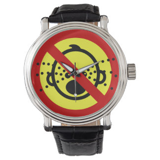 NO Cry Babies ⚠ Thai Airport Sign ⚠ Wristwatch