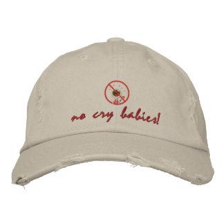 no_crybabies, no cry babies! embroidered baseball hat