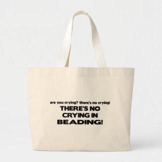 No Crying - Beading Large Tote Bag