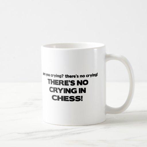 No Crying - Chess Coffee Mug