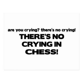No Crying - Chess Postcard