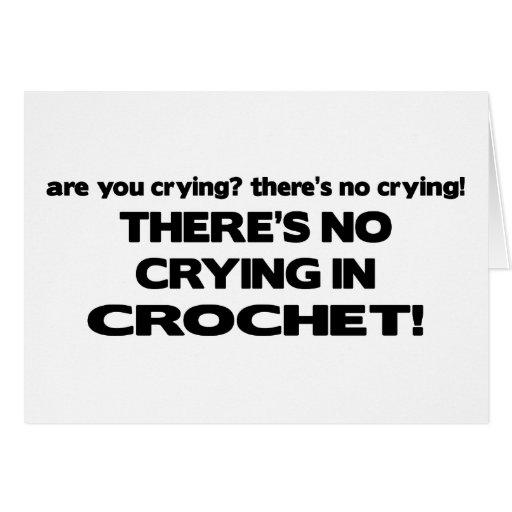No Crying - Crochet Card
