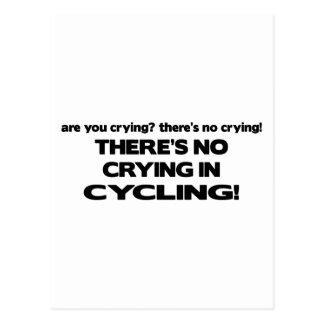 No Crying - Cycling Postcard
