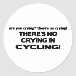No Crying - Cycling Stickers