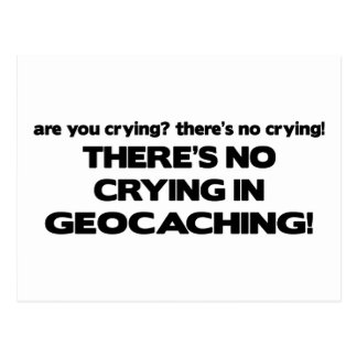 No Crying - Geocaching Postcard