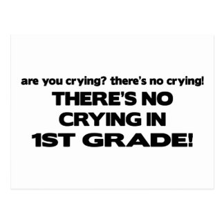 No Crying in 1st Grade! Postcard