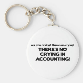 No Crying in Accounting Keychain