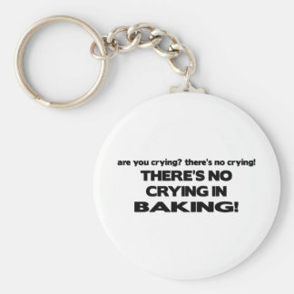 No Crying in Baking Basic Round Button Keychain