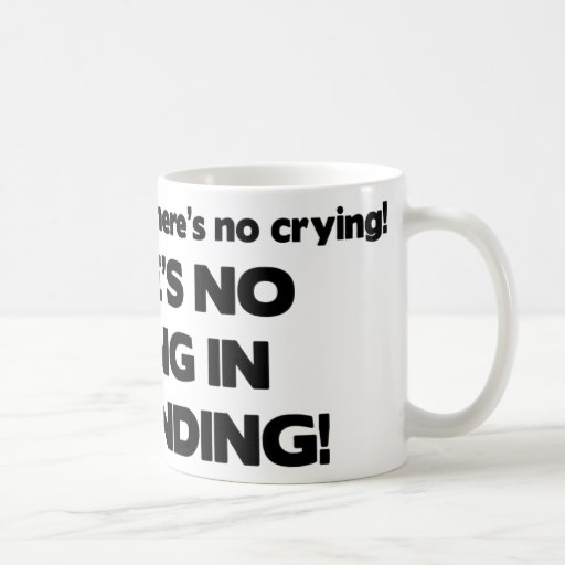 No Crying in Bartending Mug